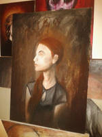 WIP oil painting by Rhyn-Art