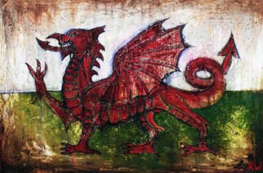 Draig Goch - Red Dragon by Rhyn-Art