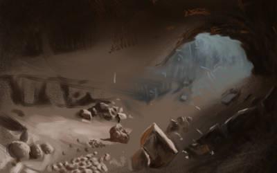 Unfinished drawing by Rhyn-Art