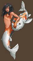 Koi Mermaid by Aerlynn