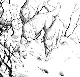 Hunt (Inktober #30) by Likopinina