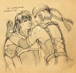 F.Sketch09-1: Snake + Ike by Asaphira