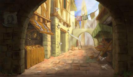 BG: Alleyway by Asaphira