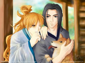 Haruka3 - Kurou and Yasuhira by Asaphira