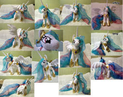 Princess Celestia large plush by Rens-twin