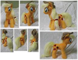 Applejack plushie by Rens-twin