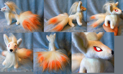 Small size Ninetails (up for sale, standing) by Rens-twin