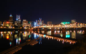 Portland at Night by Thatreallycoolguy91