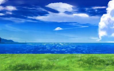 Blue sky and Blue sea by TokinoWataru