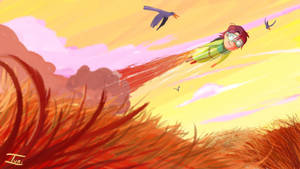 Flying Boy by provinciastudio