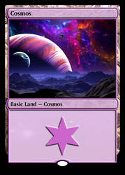 Custom Basic Land - Cosmos by MillenniumShadow