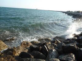 The wind on the sea by Kahishiki