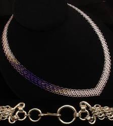 Silk Ribbon Necklace - Silver by WaistedSpace
