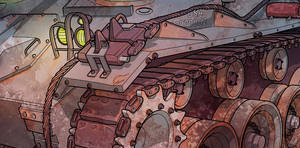 Creepy Tank 2 - detail by MikeFaille