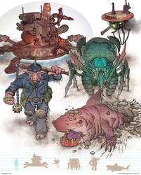 Gamma World Monsters 1 by MikeFaille