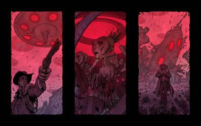 Cowboy Vs. Aliens by MikeFaille