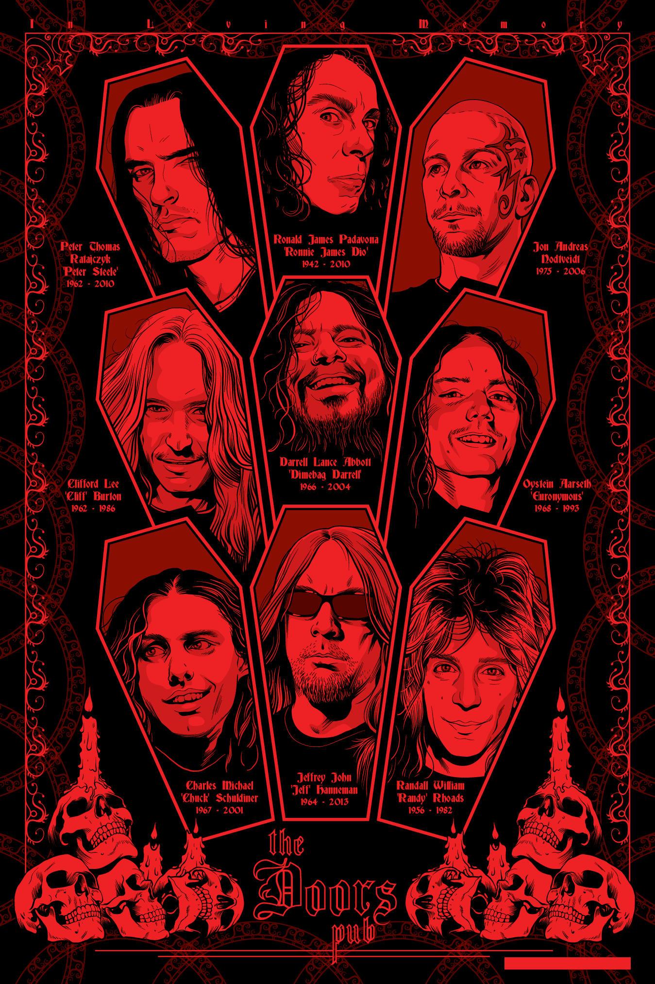 Fallen legends of metal by MikeFaille