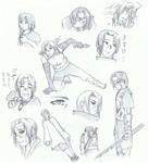 Itachi scribbles by Pentragon1990