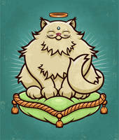 Buddha Cat by mictoon