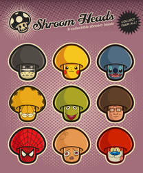 Shroom heads (Set 2) by mictoon