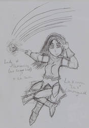 Lux - Lady of Luminosity and Rainbow Lasers by Highwind017