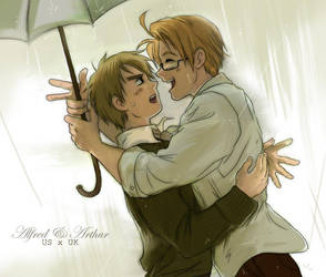 Hetalia - US x UK by TechnoRanma