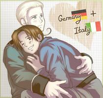 Hetalia - Germany + Italy by TechnoRanma