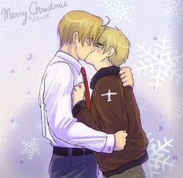 USUK - happy holidays by TechnoRanma