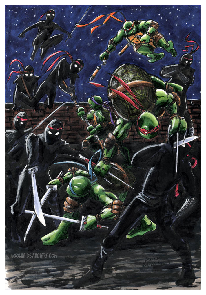 TMNT: Starry Starry Fight by loolaa
