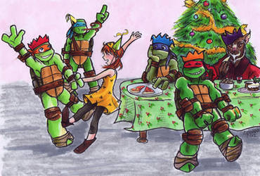 TMNT Advent Calendar 18: Party by loolaa