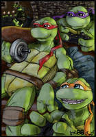 TMNT chilling by loolaa