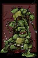 Mike and Raph by loolaa