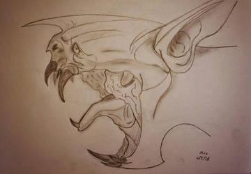 Monster Sketch by fruitbatslyra
