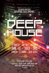 Deep House Flyer by styleWish