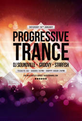Progressive Trance Flyer by styleWish