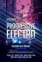 Progressive Electro Flyer by styleWish