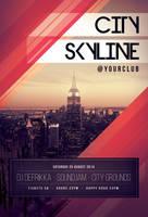 City Skyline Flyer by styleWish