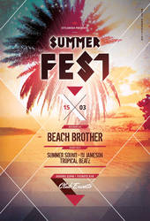 Summer Fest Flyer by styleWish
