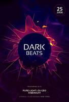 Dark Beats Flyer by styleWish