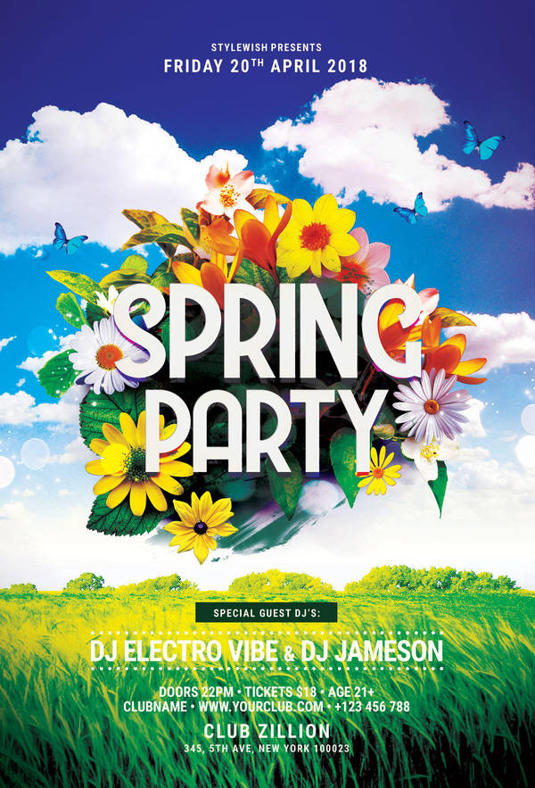 Spring Party Flyer | Spring Party Flyer By Stylewish On Deviantart