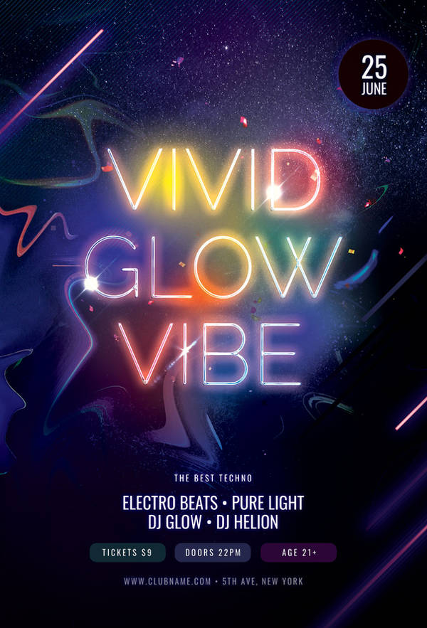 Vivid Glow Vibe Flyer by styleWish