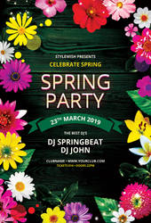 Spring Party Flyer by styleWish