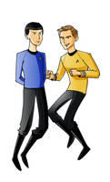 Kirk and Spock by ngoziu