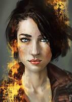 Golden brunette by BGK-Bengiskhan