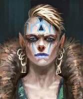 Shadowrunners portrait : Elf shaman by BGK-Bengiskhan