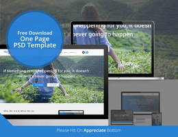 THEMEPIE One Page PSD Web Template Freeb by Cristalpioneer