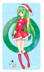 [+ SPEEDPAINT, COVER] Happy Christmas!!! - UTAU by Sofiia-C