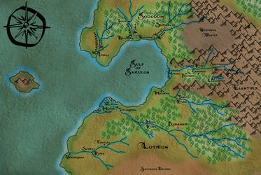 Map of Lothion from MageBorn by Michael G. Manning by L0neKitsune