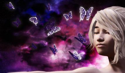 Astral Butterflies by kiwihobbit
