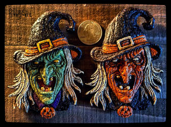 Cackling Witch Magnets by JasonMcKittrick